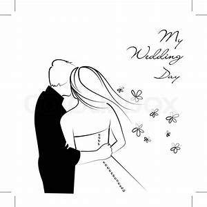 Black and White Wedding Background Stock Vector Colourbox