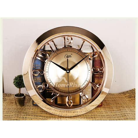 luxury goldrose gold wall clocks  large abs glass unique