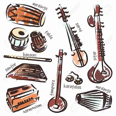 Instruments Indian Musical Vector Tabla Clipart Traditional