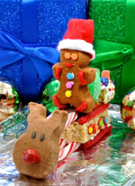 easy christmas food crafts delicious diy use peeps 174 to make a sleigh