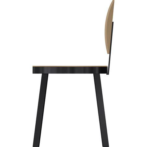 objeto bim y cad chaise ds no6 acier noir et chene