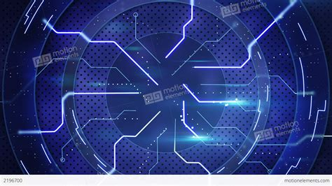 Animated Technology Wallpaper - blue hi tech abstract loopable background stock animation