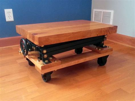 I Built An Industrial Style Scissor Lift End Table With A
