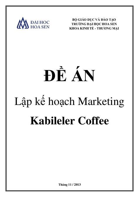 lap  hoach marketing cho  quan coffee moi mo