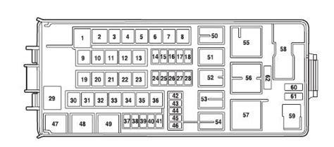 diagram  ford  underhood fuse box fixya