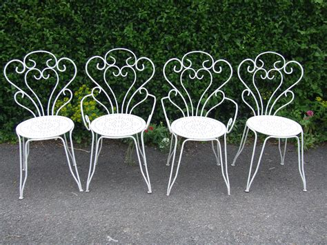 g177 s lovely set 4 vintage wrought iron garden
