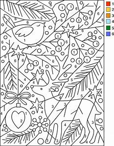 Nicole39s Free Coloring Pages CHRISTMAS Color By Number