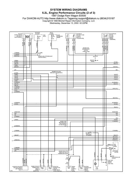 Dodge Ram Wagon System Wiring Diagram