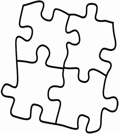 Puzzle Coloring Clipart Piece Pieces Puzzles Colouring