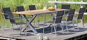 Gartentisch 12 Personen : ausziehbarer gartentisch spectra edelstahl tischgestell teakholz tischplatte mit 4 x ~ Whattoseeinmadrid.com Haus und Dekorationen