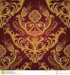 papier peint floral de luxe de rouge et d or photographie