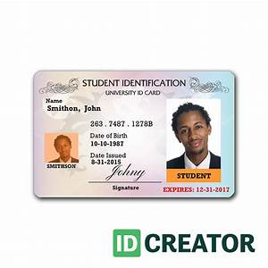 professional student id card order in bulk from idcreator With school id cards template