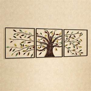 wall art ideas design ever changing tree wall art With metallic wall art