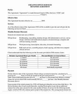 40 consulting agreement sample With consulting retainer agreement templates