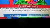 Flash Flood Warning on TV (EAS #915) 9/18/15 - YouTube