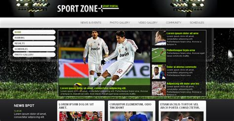sports templates 22 sports html website templates free premium