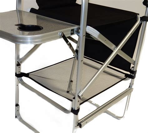 deluxe tall director chair w side table and cup holder