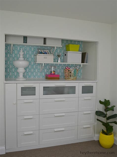 Closet Dresser Ikea by Standard Closet Turned Beautiful Built In For The Office