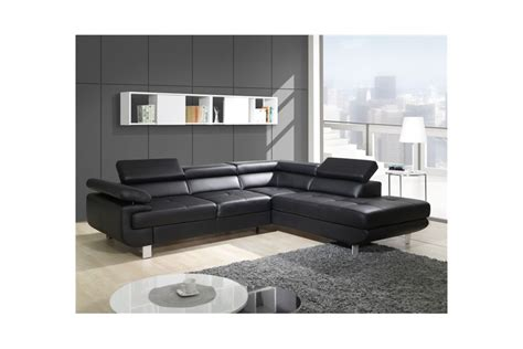 canapé studio canapé design d 39 angle studio cuir pu noir canapés d