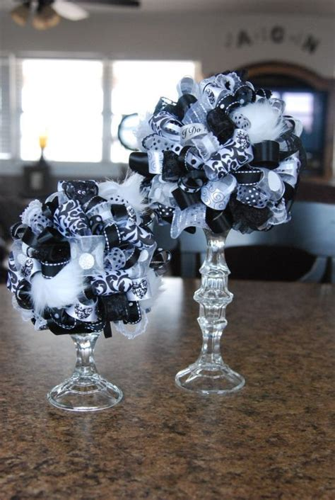 black and white centerpieces centerpiece for my