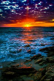 Beautiful Ocean Sunrise Sunset