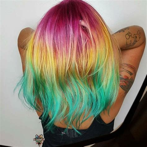 25 Beautiful Short Rainbow Hair Ideas On Pinterest