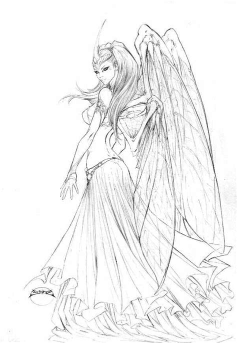 By Joe Benitez | Fairy coloring pages, Coloring pages, Colorful drawings