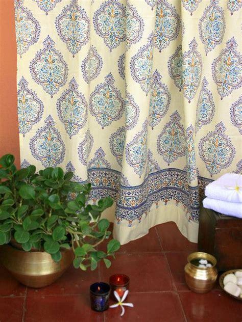 saffron marigold shower curtain for my bag end