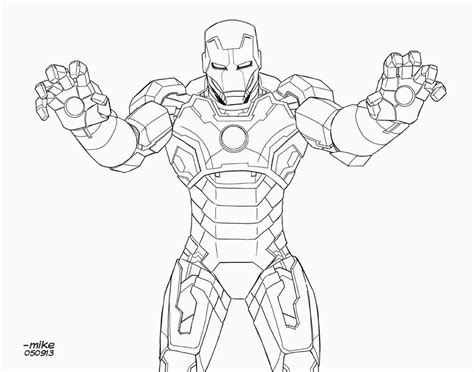 Iron Man 3 Coloring Pages - Democraciaejustica
