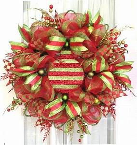 deco mesh wreath christmas xmas ideas Juxtapost