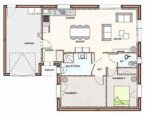 Plan Maison 1 Chambre 1 Salon : plan maison 3 chambres 1 salon ~ Premium-room.com Idées de Décoration