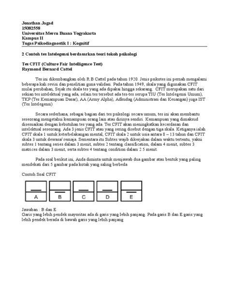 Contoh soal dan pembahasan penalaran umum tes potensi skolastik (tps) utbk 2020 pdf. Contoh Soal Tes Intelegensi