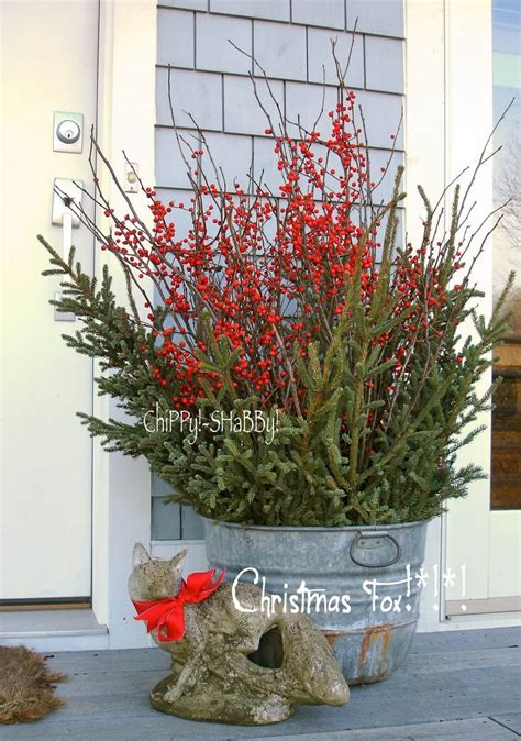 Fancy Outdoor Holiday Planter Ideas Enliven Your