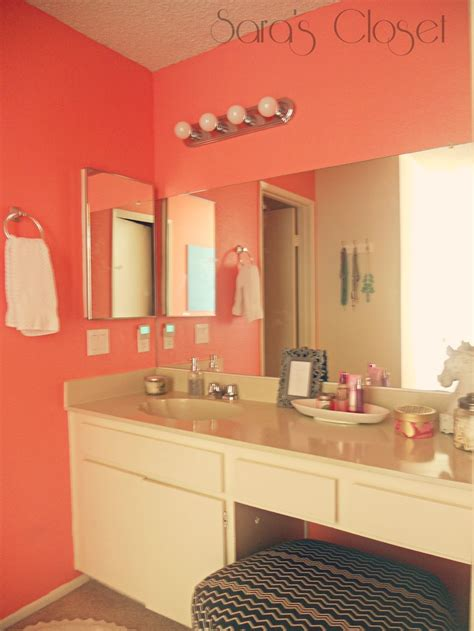 bathroom paint behr youthful coral home decor
