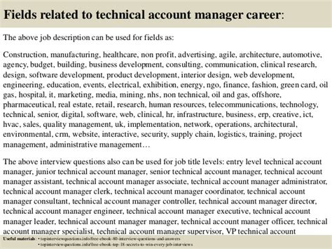 Account Manager Questions by Top 10 Technical Account Manager Questions And
