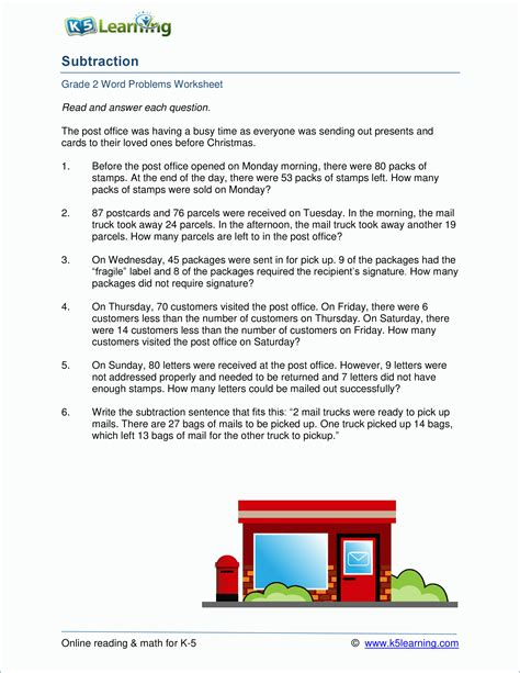 subtraction word problems worksheets goodsnyc