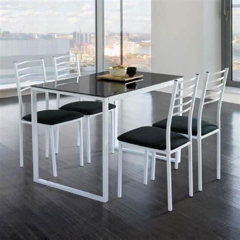 but table de cuisine ensemble de noa table de cuisine verre 4 chaises noir