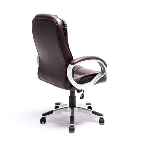 dark brown leather desk chair black brown white pu leather modern executive computer