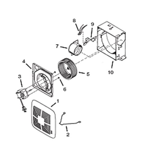 nautilus exhaust fan parts nautilus exhaust fan motor replacement broan model 688