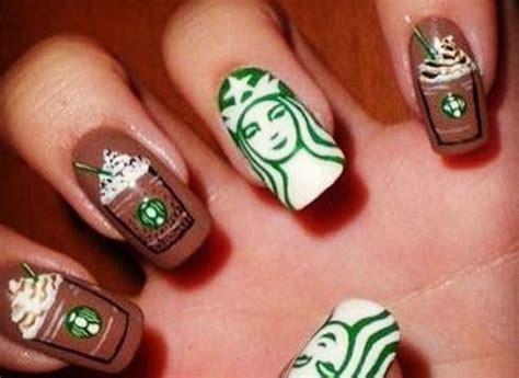 10 Caffeinated Coffee Nail Art Designs   LatestFashionTips