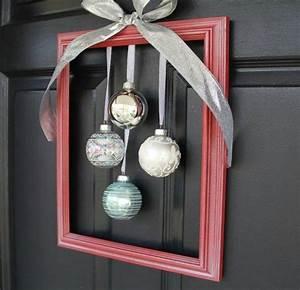 Weihnachtskranz Selber Basteln : selber basteln k nnen sie einen originellen weihnachtskranz mit einem rahmen diy pinterest ~ Eleganceandgraceweddings.com Haus und Dekorationen