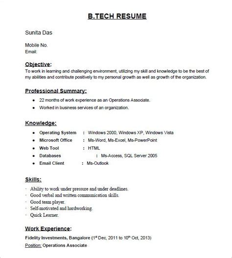 resume for job aplication for freshers 25 unique resume format for freshers ideas on pinterest