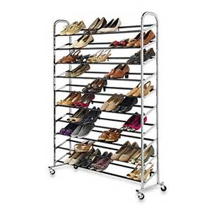rhode island kitchen and bath buy 60 pair rolling shoe rack in chrome from bed bath beyond