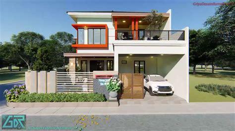 desain denah rumah mewah  lantai ukuran    meter