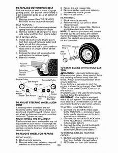 To Replace Motion Drive Belt  To Adjust Steering Wheel