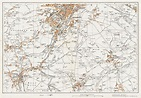 An old map of Keighley (south), Haworth, Oakworth ...