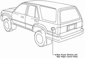 1993 Toyota 4runner  Problem With Power Window On Tailgate