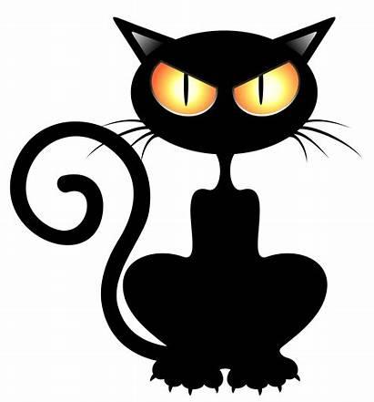 Cat Halloween Silhouette Clip Clipart Cats Transparent
