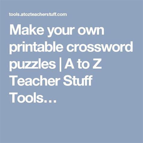 printable crossword puzzles    teacher