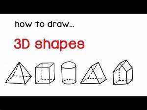 How To Draw 3d Shapes  Pyramid  Cube  Cylinder  Prism